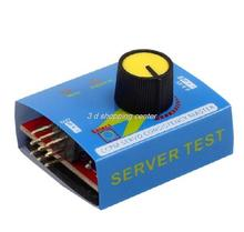 Free Shipping Servo Tester Gear Test CCPM Consistency Master Checker 3CH 4.8-6V with Indicator Light