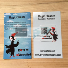 2000pcs customized QR code mobile sticky wiper/Screen sticky cleaner/microfiber screen cleaner with DHL Free shipping(China)