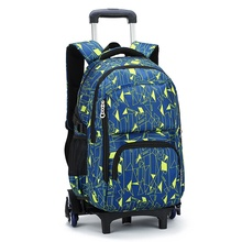 Children School Bags with 3 Wheels Removable Kids Child Climb Stair Trolley School Bag Boys Girls Rolling Backpack Bookbag(China)