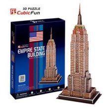Candice guo! 3D puzzle toy CubicFun 3D paper model jigsaw game empire state building