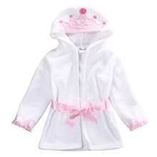 Winter Cute Infant Baby Girl Boy Warm Hooded Bath Towel Wrap Bathrobe Bathing Blanket Robes(China)