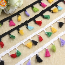 5Yard 40MM Colorful Polyester Lace Trim Ribbon Tassel Fringe Ribbons DIY Sewing Crafts Accessories Home Party Decoration