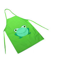 2016 New Cute Kids Child Children Waterproof Apron Cartoon Frog Printed Painting Cooking Apron in stock(China)