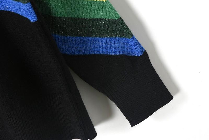Runway Design Rainbow Patchwork Sweater