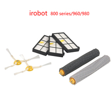 LK320 Vacuum Cleaner Accessories For irobot 3 Hepa filter + 2 side brush+1set Tangle-Free Debris Extractor Series 800/960/980(China)