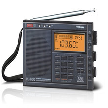 TECSUN PL-600 Full-band Stereo Digital Tuner AM/FM/LW/SW SSB Shortwave Radio Build-in with Clock