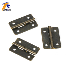 12pcs Antique Brass Vintage Jewelry Gift Wine Wood Box Hinge Furniture Fitting Cabinet Hinge Accessories for Woodworking w/Screw