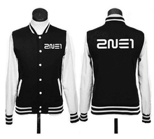 2017 band 2NE1 Korea kpop JACKET logo hoodies fleece coat baseball uniform k-pop 2NE1 Sweatshirts Autumn Winter moletom