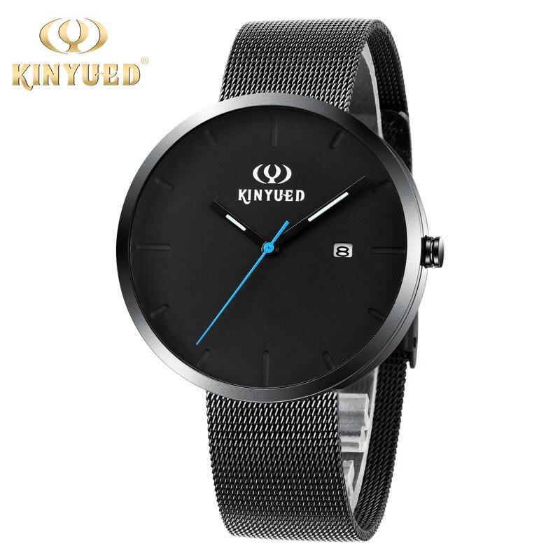 Simple Black Men Watch Ultra Thin Luxury Brand 30m Waterproof Mens WristWatch Male Steel Strap Casual Quartz Watch Reloj Hombre<br><br>Aliexpress