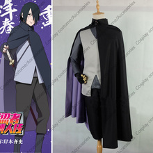 BORUTO NARUTO THE MOVIE Uchiha Sasuke Konoha Cosplay Costume Anime Customized
