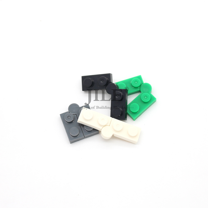 5 pair// 10 pcs YELLOW 1x2 Hinged Bricks ~ Lego  ~ NEW ~ Castle