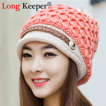 Elegant Women Hat Fall Winter Hats 8 Color Casual Beanie Snapback Caps Hairball Hats Warm Ear Protection Wool Swag Hat M011(China)