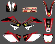 0094 Star  New Style TEAM  GRAPHICS&BACKGROUNDS DECALS STICKERS Kits for Honda CRF450R CRF450 2002 2003 2004