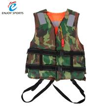 Adult Life Jacket Vest PFD Fully Enclose Foam Boating Water Fishing Safety Jackets For Outdoor Sport Swimming Drifting Fishing(China)