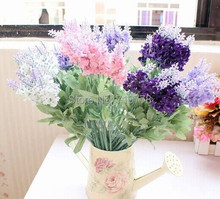 10PCS artificial fake silk lavender flower for home living room dining table decoration small mini flowe-no vase