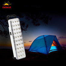 Wholesale Emergency LED light flashlight mini 30 LED Rechargeable Emergency Light Lamp 2 Mode for Home camp outdoor(China)