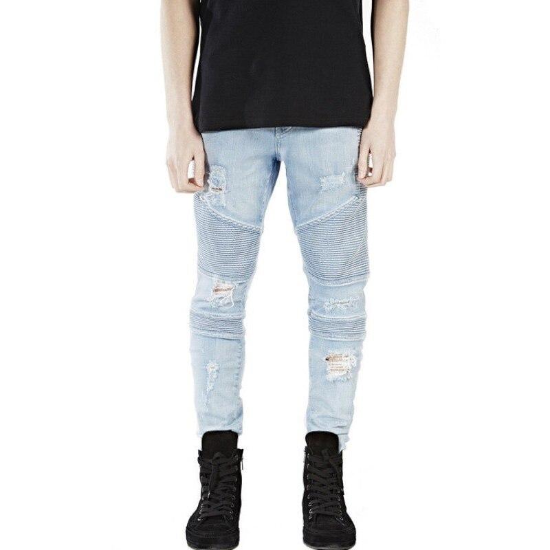 Uwback 2017 Brand hip-hop Casual Denim Jeans Men Distressed Mens  Slim Jeans pants Biker jeans skinny rock ripped jeans CAA300Одежда и ак�е��уары<br><br><br>Aliexpress