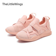 TheLittleWings Autumn 2017 new kids shoes breathable boys loafers girls casual school shoes sneakers Super soft and comfortable(China)