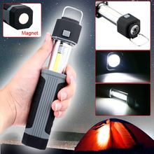 360 Degree Rotating Hook Strong Magnetic Base 2in1 3W COB LED Stretchable Flashlight Torch Working Lamp withStrong Magnet