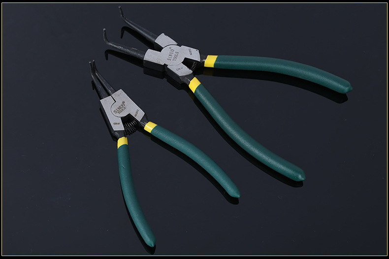 4pcs/set   9  External / internal with straight / bent handle stick plastic circlip pliers spring installation and removal <br>