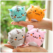 1PC Cute Kawaii Plush Tiger Cat Key Chain Doll Plush Stuffed Toy Pendant Wedding Gift Kids Baby Children Toys Random Color
