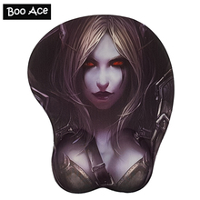 Sylvanas Sexy Big Soft Breast 3D Gaming Mouse Pad New Arrival Sexy Wrist Rest H2.8cm Free shipping