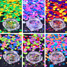 1 Box Plastic Nail Art Glitter Powder Color Mixed Nail Glitter Sequins Women Beauty Salon Manicure Tools Accessories(China)