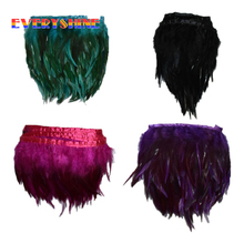 2 Yards American Indian Hair Extensions Headdress Plume Wedding Decoration Bride Dresses Feathers Party Decorative Skirt IF87(China)
