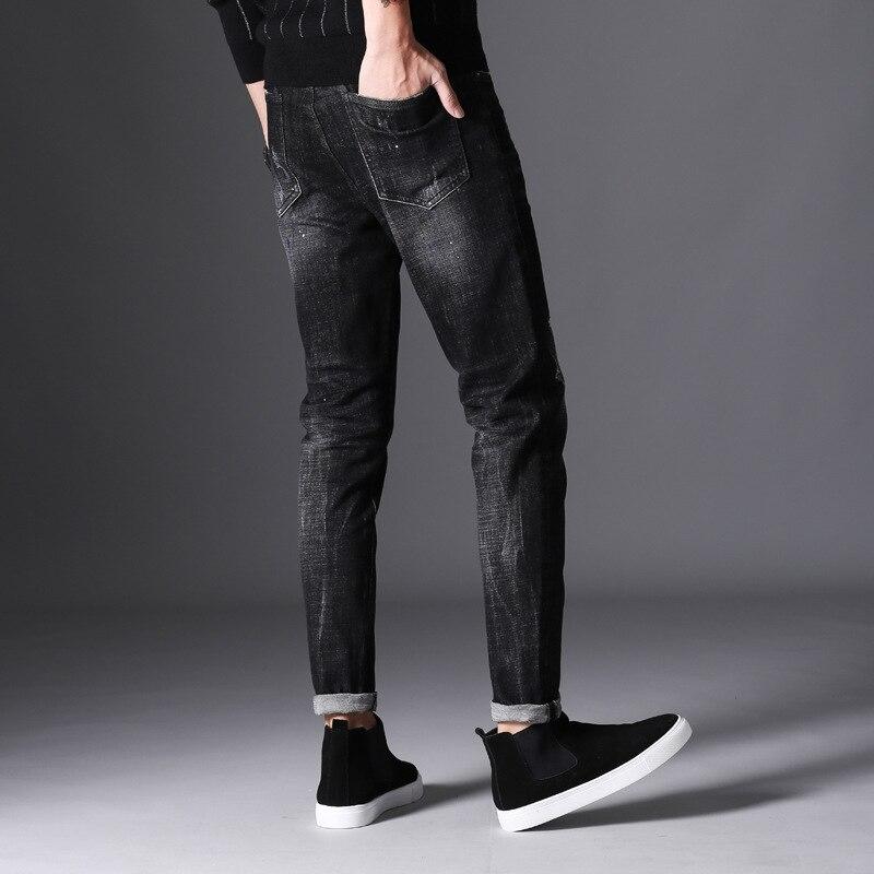 Brand 2017 New autumn winter fashion jeans men causal denim pants long trousers slim fit Brand Clothing full length hip hop midÎäåæäà è àêñåññóàðû<br><br>