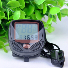 Free Shipping LCD Digital Waterproof Odometer Velometer Bicycle Speedometer Bike Computer Accessories