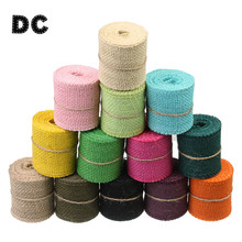 DC 2 yard 11 colors Beige Pink 6mm Colored Knitted Hemp Cords Ropes Sash fit Wide Necklace Bracelet DIY Jewelry Making Findings(China)