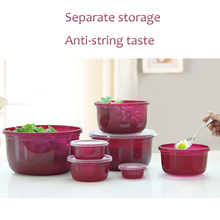 Fridge storage food box plastic preservation storage box set microwave oven lunch lunch box sealed fruit crisper household items