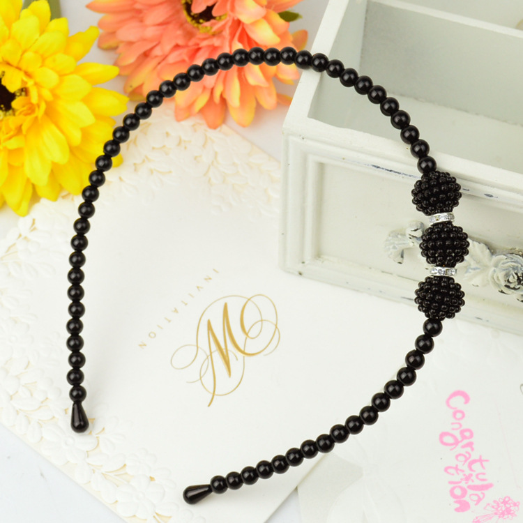 Free New Korean Style Princess Pearl Elegant Kids Girl Pearl Headbands Hair Bands Women Children Hair Accessories