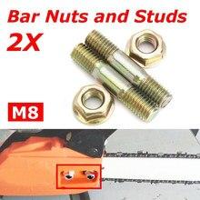 Muffler Exhaust Stud Nut Bolt Gasket Kit For Husqvarna 61 266 66 162 Chainsaw M5 X M6 Replace 501686501 503222302 Garden Tools