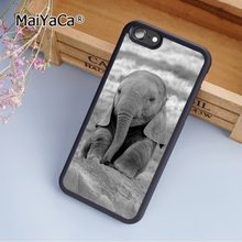 MaiYaCa Cute Baby Elephant fashion soft mobile cell Phone Case Cover For iPhone 7 Plus Custom DIY cases luxury shell(China)