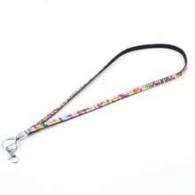 Wholesale Multi-Function Rhinestone Crystal Bling Phone Straps Badge ID Key Holder Lanyard Cell Phone Rope