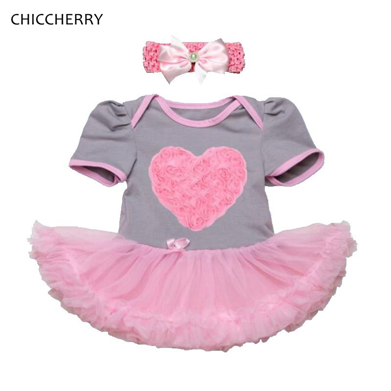 3D Heart Baby Girl Valentine s Outfits Rose Baby Lace Romper Dress Headband Wedding Party Tutus Vestido De Bebe Newborn Clothes<br><br>Aliexpress