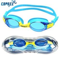 COPOZZ плавательные очки для детей от 3 до 10 лет водонепроницаемые очки для плавания Прозрачный Анти-туман УФ Защита мягкий силиконовый чехол и...