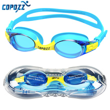 COPOZZ Swimming Goggles Kids Age 3-12 Waterproof Swimming Glasses Clear Anti-fog UV Protection Soft Silicone Frame and Strap(China)