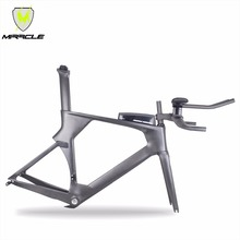MIRACLE 2018 time trail Carbon Frame,carbon TT bike frame include frame fork headset seatpost clamp stem TT bar ATTK Box(China)