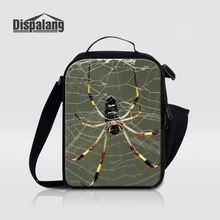 Dispalang Spider Lunch Coolers For Kids Mini Thermal Insulated Lunch Containers For Working Outdoors Picnic Bag Lunch Bag Tote(China)