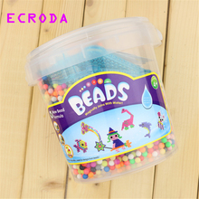 2016 hot Water beadbond children's educational toys DIY Magic Beads puzzle Packed magical water beados bucket packed kits(China)