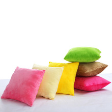 1 pieces Candy Solid Color Decorative Throw Pillowcase Cushion Covers For Sofa Home Decor Short Plush Soft Material
