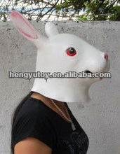 Halloween Animal Mask Latex Rabbit Mask Bunny Head Costume