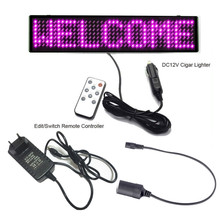 Multi-function pink shops car promotional Advertising scrolling LED Sign Programmable DIY remote control LED Display Board(China)