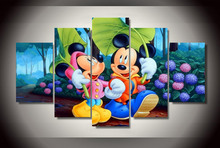 Framed Printed mickey mouse cartoon Painting on canvas room decoration print poster picture canvas Free shipping/wo-2536
