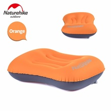 3 Colors NatureHike Brand Ultralight Outdoor Foldable Rectangle Hiking Air Inflatable Travel Pillow Portable Soft Camping Pillow