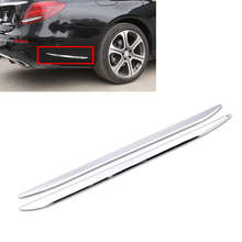 Car Styling 2Pcs ABS Chrome Plated Rear Bar Side Trim Cover Decoration for Mercedes Benz E Sport 2016 2017(China)