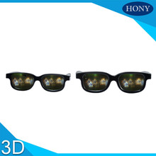 2pcs Plastic 3D Christmas Glasses - Holiday Specs - Transform Christmas Lights Into Magical Images - Christmas Tree&Santa Lens(China)