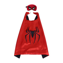 Superhero cape (1CAPE+1MASK) spiderman Costume for kids and parents birthday Party Cosplay Costumes Halloween festival gifts